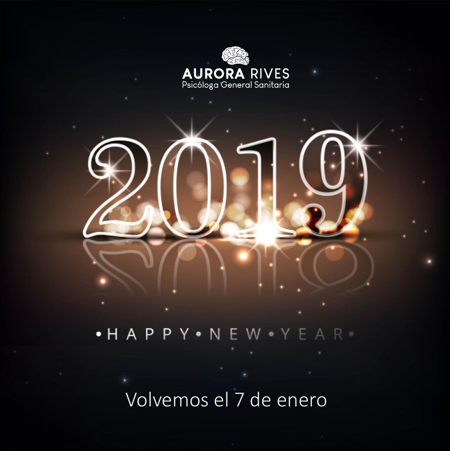Feliz 2019 Aurora Rives